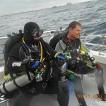 Tec Instructor John briefing the dive